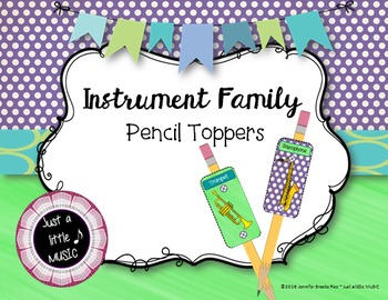 Instrument Family Pencil Toppers--Reward or Review Orchestra Instruements