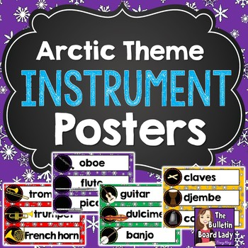 Instrument Family Posters - Arctic Theme