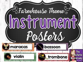 Instrument Family Posters - Farmhouse Theme