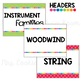 Instrument Family Posters: Rainbow Dots Theme