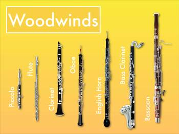 Instrument Family Posters - Bright & Simple