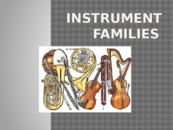 Instrument Family PowerPoint