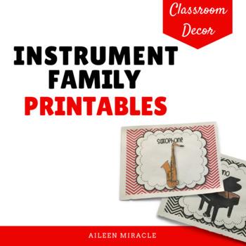 Instrument Family Printables