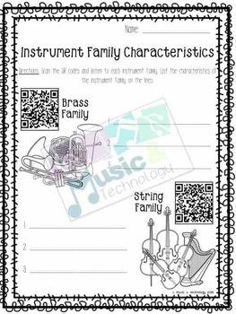 Instrument Family QR Code Fun!