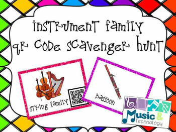 Instrument Family QR Code Scavenger Hunt