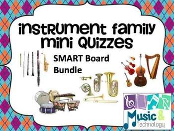 Instrument Family SMART Board Mini Quiz Bundle