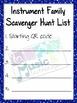 Instrument Family Scavenger Hunt Worksheet
