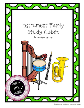 Instrument Family Study Cubes--A Review Game for Instruments of the Orchestra
