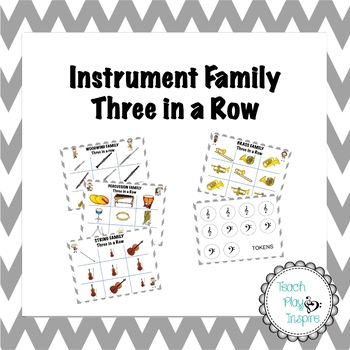 Instrument Family Three in a Row (tic tac toe inspired)