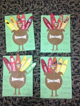 Instrument Family Turkeys