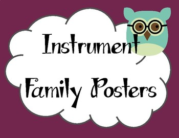 Instrument Family Visual Aides: Bright Birds
