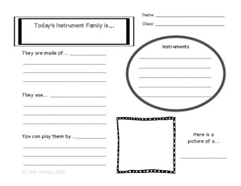 Instrument Family Worksheet