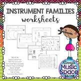 Instrument Family Worksheets #musiccrewinstruments