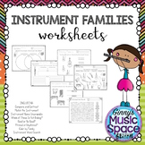Instrument Family Worksheets