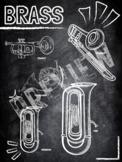 Instrument Family poster- Brass (Chalkboard theme)