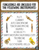 Instrument Fingering Charts Foldable MINI BOOK *For 10 Instruments!*