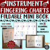 Instrument Fingering Charts Foldable MINI BOOK *For 10 Ins