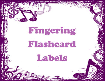 Instrument Fingering Flashcard Labels