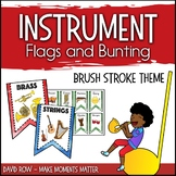 Instrument Flags - Bunting for the Music Classroom - Brush