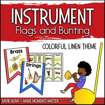 Instrument Flags - Bunting for the Music Classroom - Color