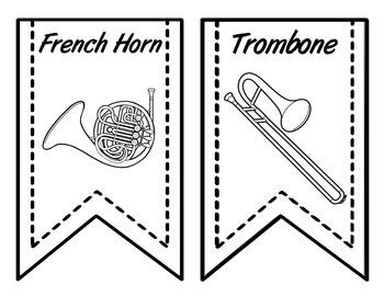 Instrument Flags - Bunting for the Music Classroom - Colorful Linen