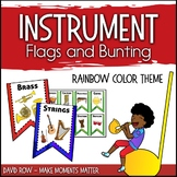 Instrument Flags - Bunting for the Music Classroom - Rainb