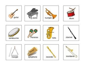 Instrument Flash Cards