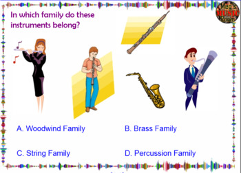 """""""Name That Instrument!"""" Orchestra Game - Elementary Music - Use for Sub Plan!"""