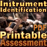 ORCHESTRA TEST - Instrument ID Assessment Printable PDF -