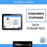 Instrument Inventory BOOM Cards for Paperless Classrooms