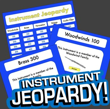 Instrument Jeopardy Music Game