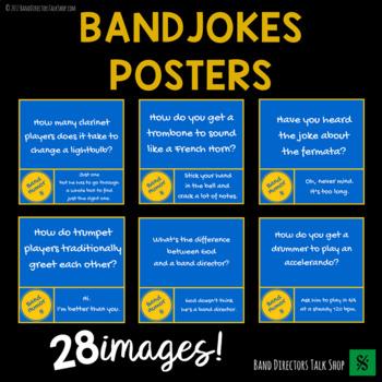 "Music Bulletin Board ""Instrument Jokes ""Music Posters"