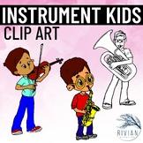 Instrument Kids Clip Art