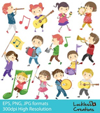 Instrument Kids Digital Clip Art