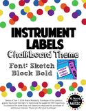 Instrument Labels: Chalkboard Theme
