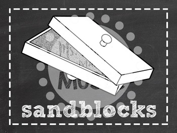 Instrument Labels: Chalkboard Theme
