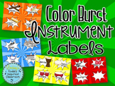 Instrument Labels - Color Burst
