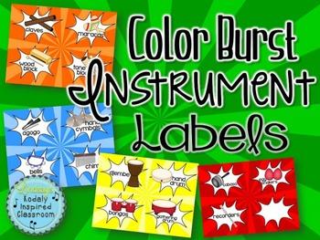 Instrument Labels - Color Burst