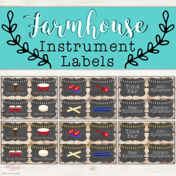 Instrument Labels - Farmhouse