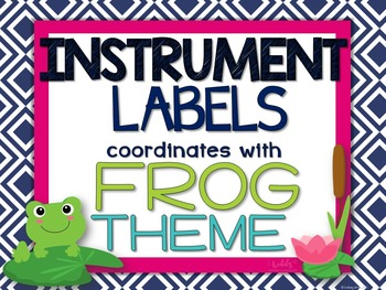 Instrument Labels - Frog Theme (EDITABLE)