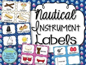 Instrument Labels {Nautical Theme}