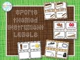 Instrument Labels (Sports Theme Decor Set)
