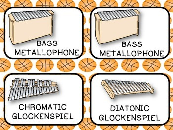 Instrument Labels (Sports Theme Decor Set)