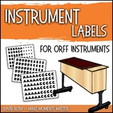 Instrument Bar Labels for Your Orff Instruments, Xylophone