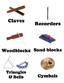 Instrument Labels for classroom