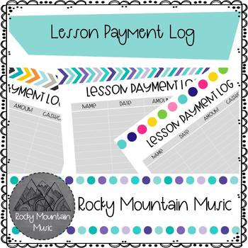 Instrument Lesson Payment Record