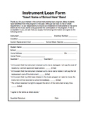 Instrument Loan Form