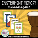 Instrument Memory Card Game: Classroom Instruments
