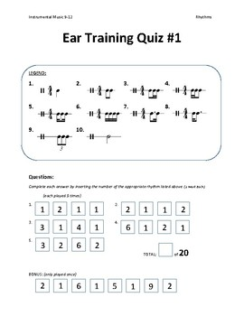 Instrument Music - Rhythm Ear Training