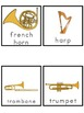 Instrument Picture Word Bank and Picture Cards